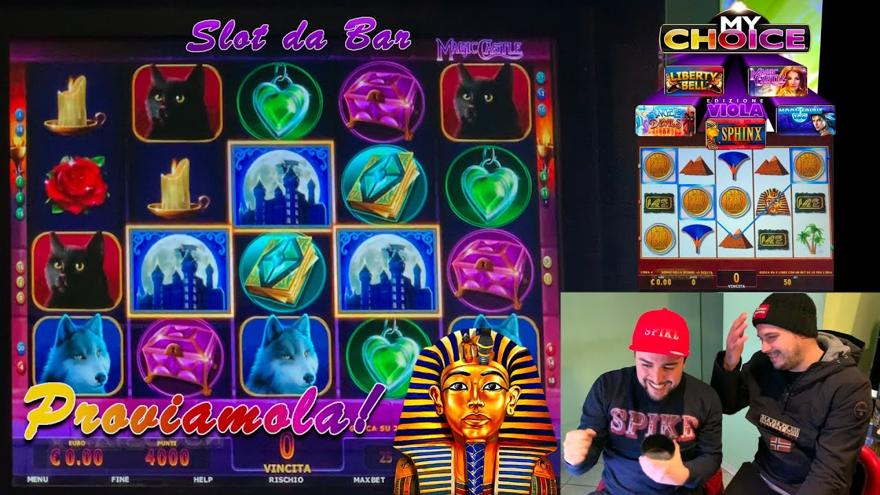 SLOT MACHINE da BAR - Proviamo la MY CHOICE EDIZIONE VIOLA? (Multigioco Atronic con SPHINX e altro)