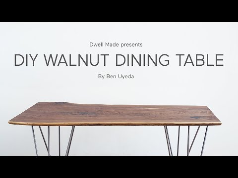DIY Live Edge Walnut Dining Table | A Dwell Made Project