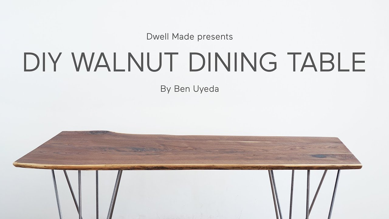 DIY Live Edge Walnut Dining Table | A Dwell Made Project - YouTube