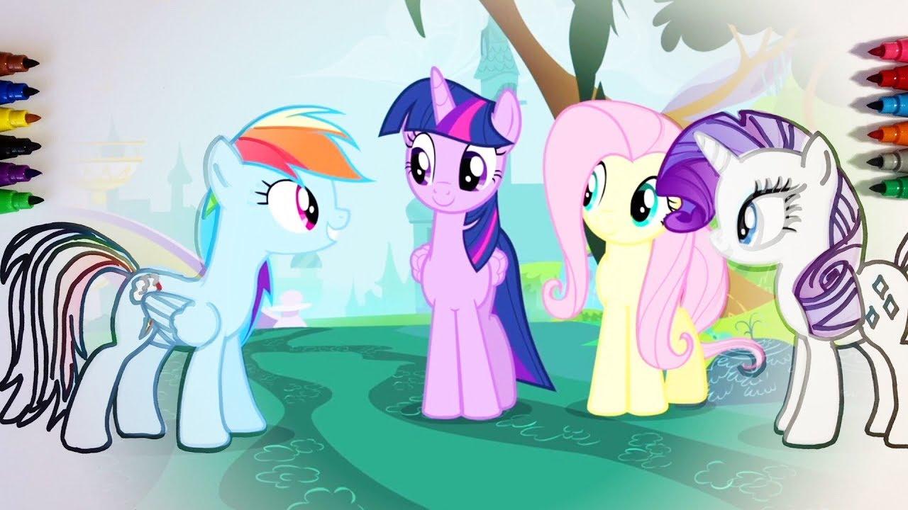 Gemütlich Mein Kleines Pony Malvorlagen Twilight Sparkle Und Freunde ...