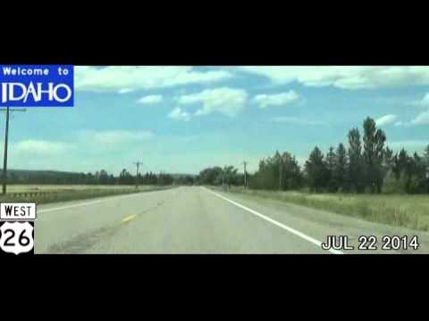 Jackson WY to Idaho Falls ID Time Lapse Drive 2014