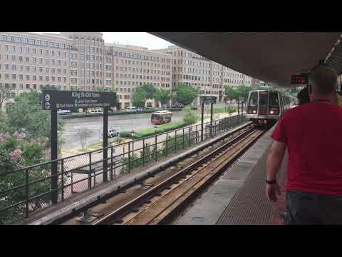 Washington Metro Arrives At King Street-Old Town