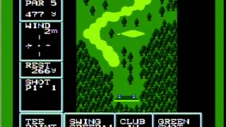 Golf US Course on famicom disk system