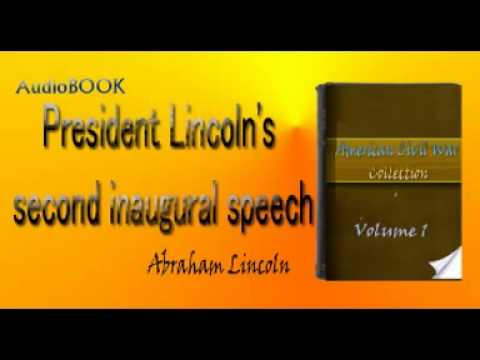 lincoln's second inaugural speech Page 4 studysynccom lesson plan: lincoln's second inaugural address speech is imbued with the rhythms and cadence of poetry have students choose.