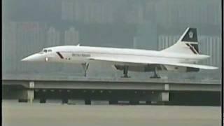 BRITISH AIRWAYS Concorde at Kai Tak (1996)