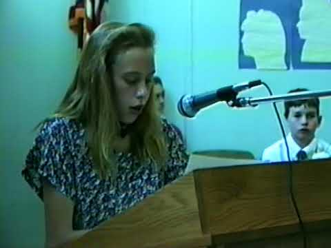 6th Grade Recognition Ceremony, 1993