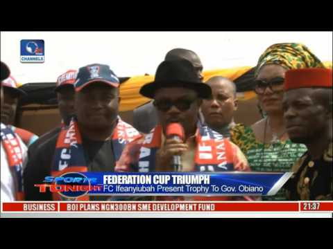 FC Ifeanyiubah Parades Federation Cup Trophy In Anambra State