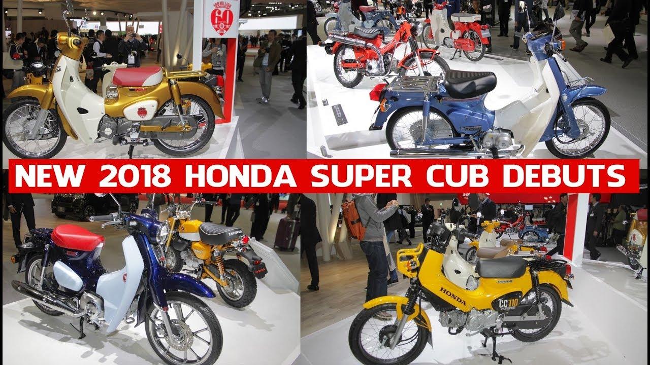 all new honda super cub 2018 debuts 2017 tokyo motor. Black Bedroom Furniture Sets. Home Design Ideas