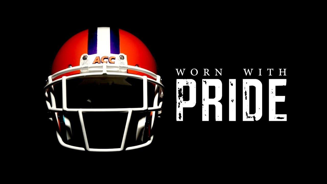Pride  Worn Helmet Football The Clemson 2013 // // With