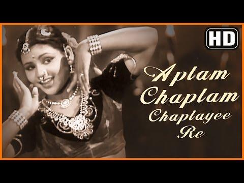 Aplam Chaplam Chaplayee Re (HD) - Azaad Songs - Sayee - Subbulakshmi - Dilip Kumar  - Filmigaane