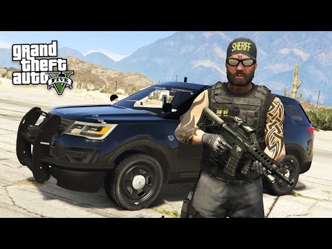 GTA 5 PLAY AS A COP MOD - BAD COP POLICE PATROL!! (GTA 5 Mods Gameplay)