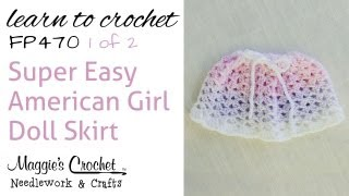 Crochet Easy American Girl Doll Skirt - 1 Of 2 - Fp470