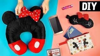 DIYs Mickey e Minnie 💖 Necessaire, Máscara e Almofada | Ideias para Viagem