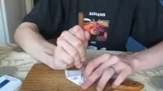 как сделать модель самолёта из пачки сигарет(Part 1)