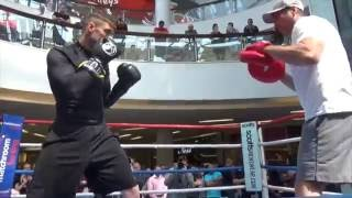 SAY SUHIN! - RICKY BURNS & TONY SIMS TECHNICAL PAD SESSION AHEAD OF DI ROCCO WORLD TITLE CLASH