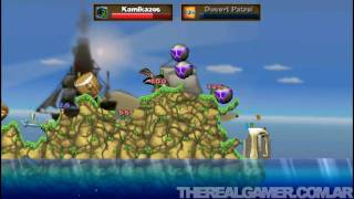 Worms Open Warfare 2 (PSP) - Gameplay #1 - TRG