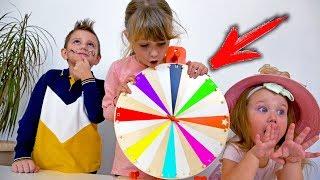 Колесо Фортуны Челлендж! Дети Выполняют Различные Задания Wheel Of Fortune On Didika Tv