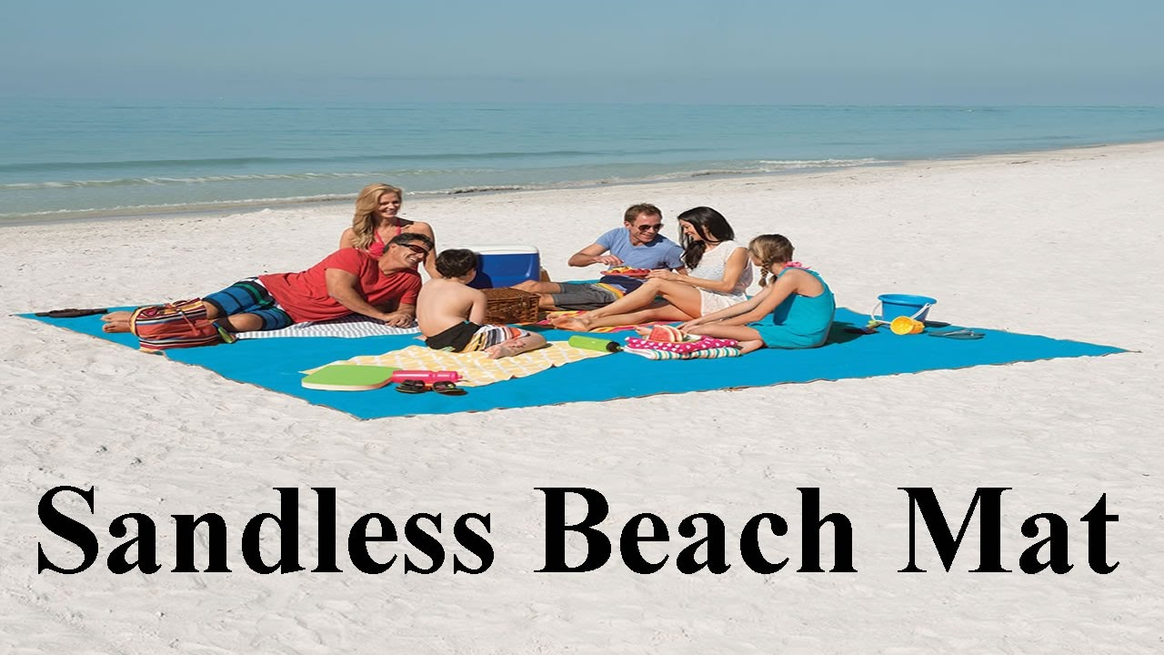 Sandless Beach Mat Sand Falls Through Youtube