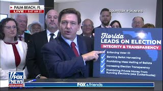 DeSantis signs elections bill, imposing new restrictions, regulations Gov. Ron DeSantis signed the controversial elections bill, Senate Bill 90, into law Thursday morning during an event in West Palm Beach., From YouTubeVideos