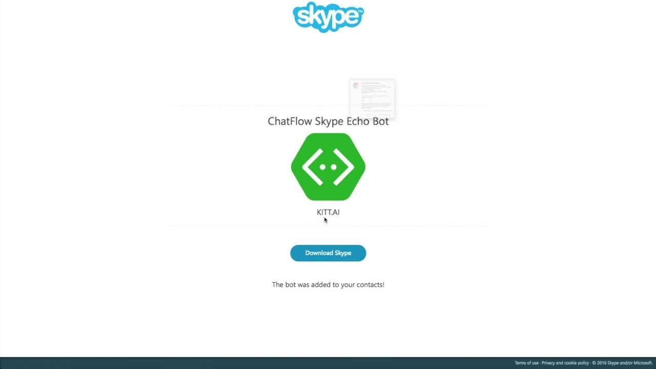 Skype Bot Tutorials — ChatFlow 0 1 documentation