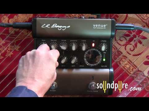 LR Baggs Venue DI Acoustic Guitar Preamp- Controls Overview and Demonstration