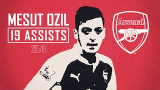 Mesut ozil - king of the assists