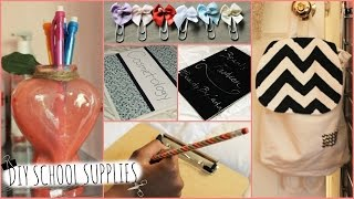 DIY Back to School Supplies! (Personalized, Cute & Easy) Thumbnail