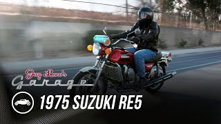 homepage tile video photo for Rotary Engine Motorcycle? 1975 Suzuki RE5 - Jay Leno's Garage