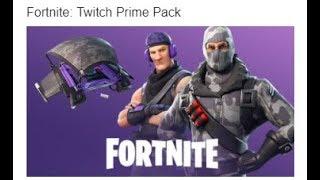Fortnite Twitch Prime offre Free Skins Havoc Sub Commander Backup Plan Slipstream