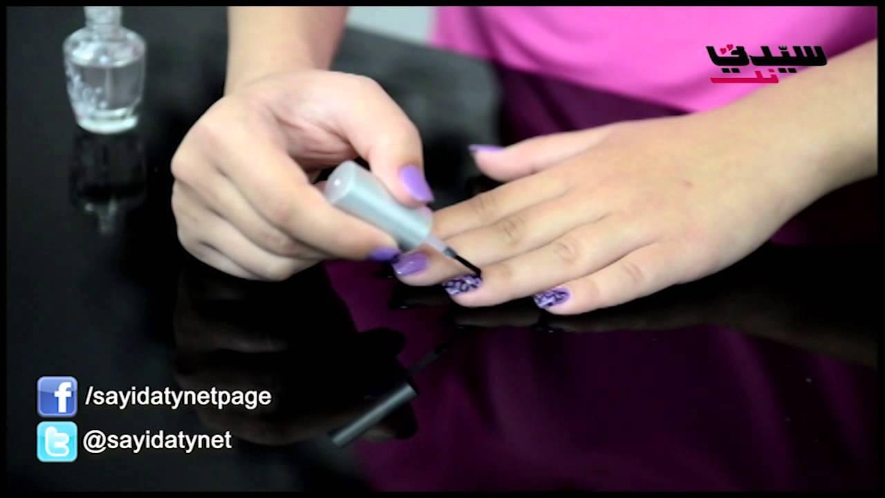 تقنيّة جديدة للرسم وتزيين الأظافر بقلم الأي لاينر!  Nails design by eyeliner