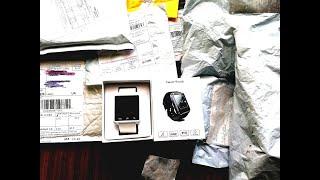 Посылка из китая с aliexpress обзор смарт часов ,MP3 плеера чехлы гарнитура    с aliexpress