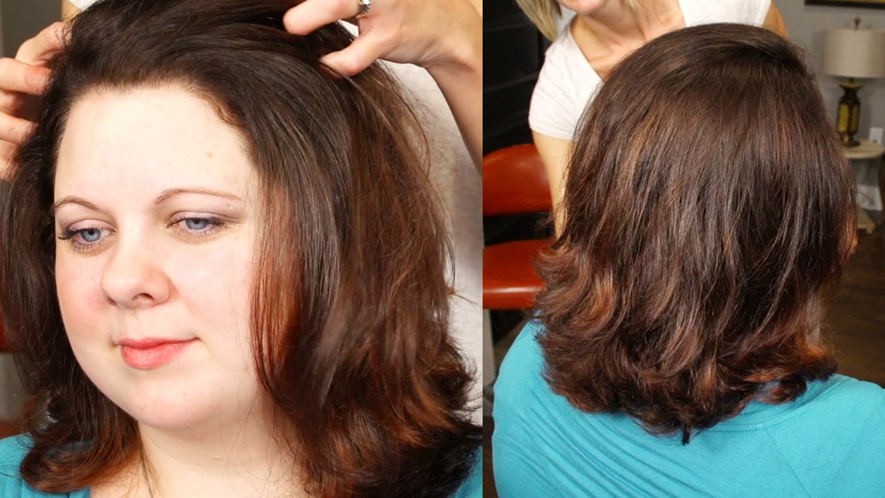 Subtle Red Balayage Highlight Technique On Curly Hair Youtube