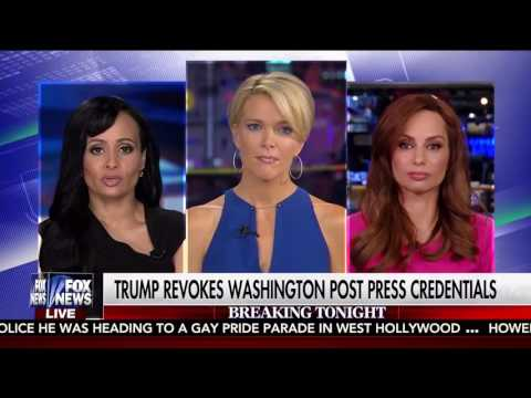 Megyn Kelly interviews Katrina Pierson and Julie Roginsky on Trump's WaPo ban | Rare Politics
