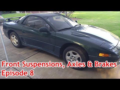 Mitsubishi 3000 GT - 1992 Classic - Episode 8 - Front Suspensions, Axles, & Brakes