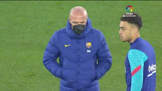 Calentamiento CA Osasuna vs FC Barcelona