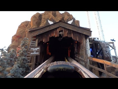 Halloween Hootenanny on the Timber Mountain Log Ride FULL POV overlay at Knott's Scary Farm 2017