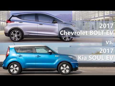 2017 Chevrolet Bolt EV Vs. 2017 Kia Soul EV Technical Comparison