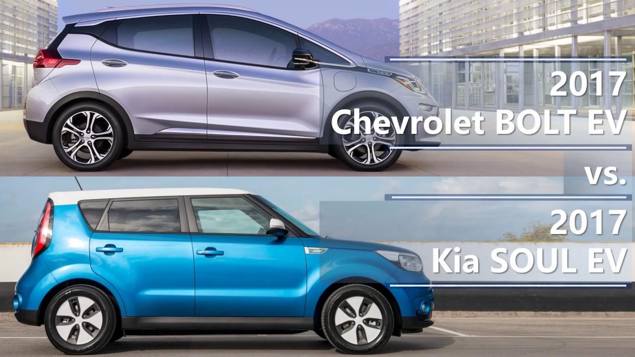 2017 Chevrolet Bolt Ev Vs Kia Soul Technical Comparison