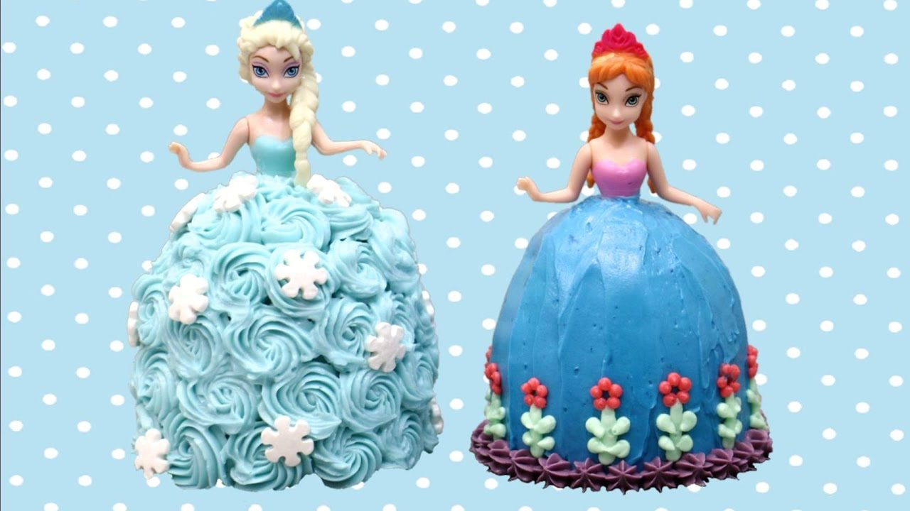 Elsa And Anna Mini Frozen Cakes How To Make By Cakesstepbystep
