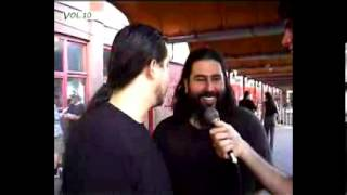 Chi Cheng and Stephen Carpenter interview, Budapest,,Hungary, 26.02.06