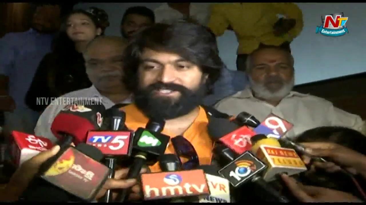 Hero Yash Speaks To Media After Kgf Movie Success Srinidhi Shetty
