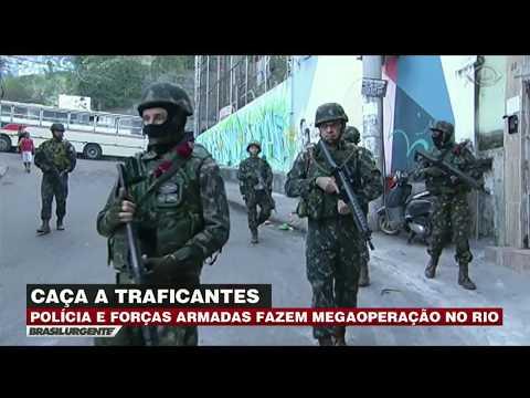 Polícia e militares fazem megaoperação no Rio
