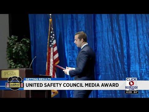 News 6, Matt Austin presented with United Safety Council Media Award