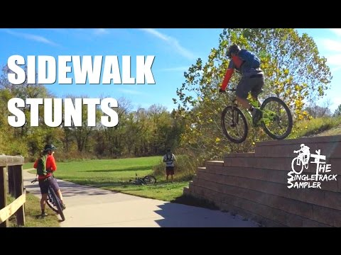 SIDEWALK STUNTS WITH SETH'S BIKE HACKS and SLAUGHTER PEN MTB TRAILS IN BENTONVILLE