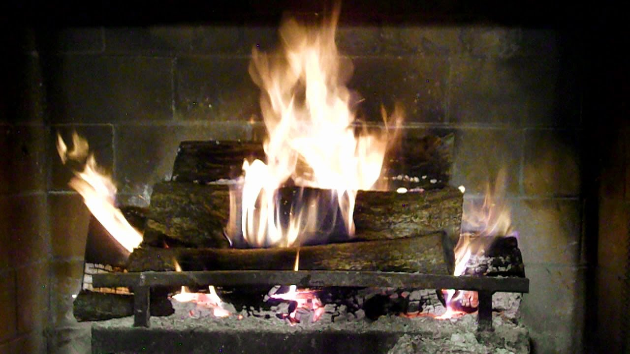 great natural fireplace video with crackling sounds youtube