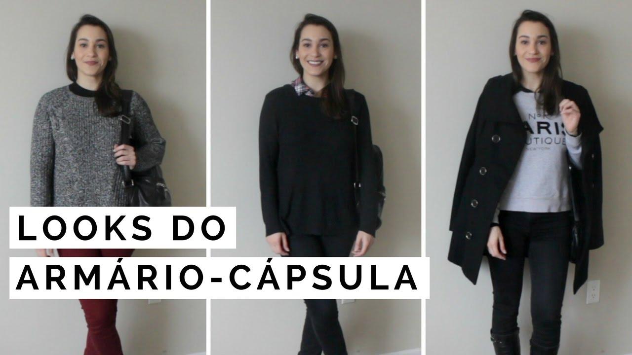 Artesanato Na Escola ~ COMBINA u00c7 u00d5ES DO ARMÁRIO CÁPSULA Inverno 2017 YouTube