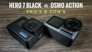Pros and Cons of the GoPro Hero 7 Black Versus DJI Osmo Action