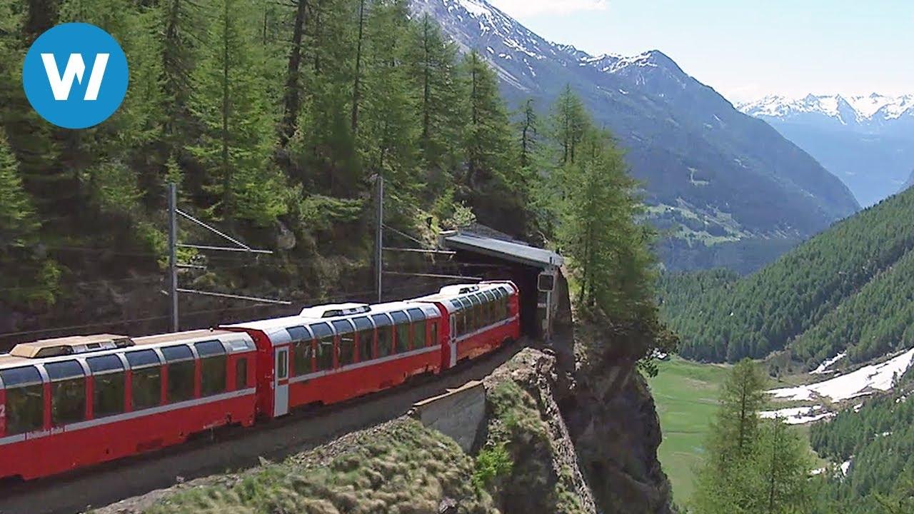 Worlds Most Beautiful Railway The Bernina Express Youtube