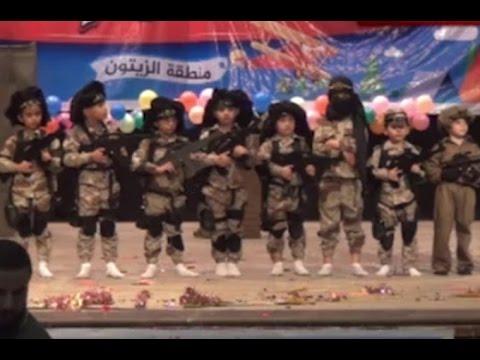 Chilling footage of kindergartners re-enacting terrorist drills in Gaza