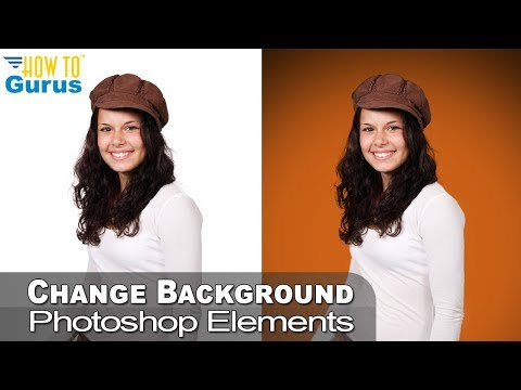 Photoshop Elements Background Color Change - White To Color Using Photoshop Elements 2019 2018 15